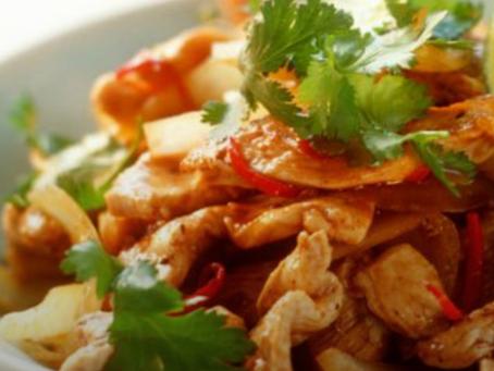 Poulet épicé du Sichuan aux oignons