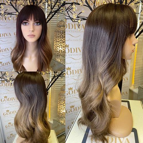 Wavy Honeycomb Caramel Fibre Wig