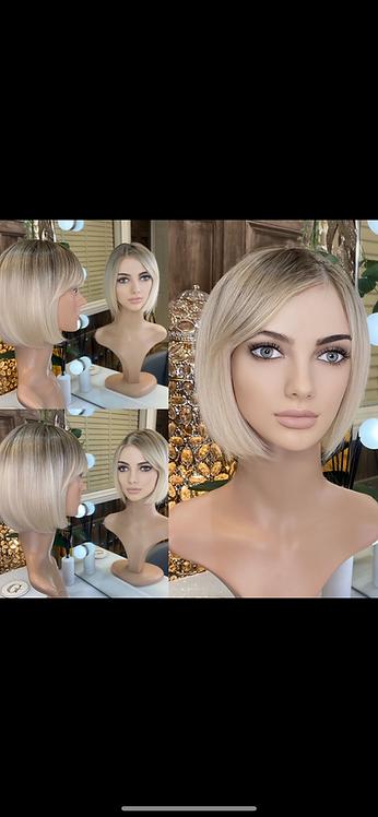 Ash Blonde Chop Bobbed Fibre Wig