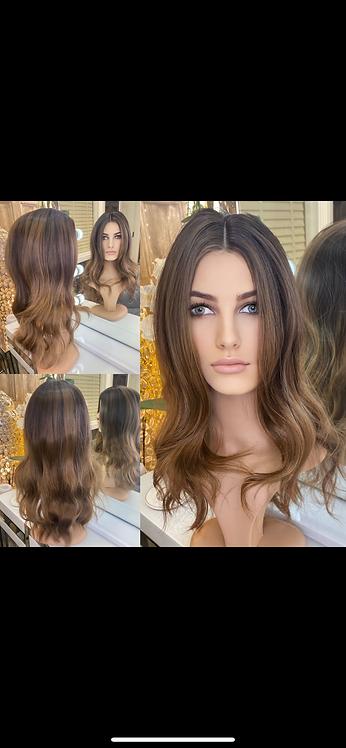 Deep Brown Wavy Fibre Hair Wig
