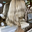 Thumbnail: Platinum blonde with root stretch fibre wig
