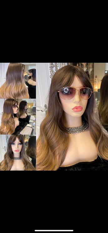 Caramel Brunette Synthetic Fibre Wig