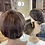 Thumbnail: Mousey Brown with Caramel Highlights Pixie Cut Fibre Wig