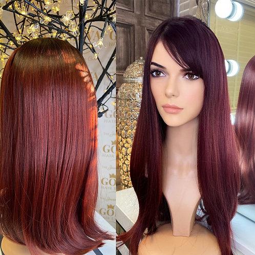 Deep Red Fibre Wig