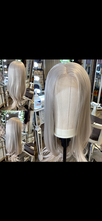 Lace Front Ash/Grey Synthetic Wig
