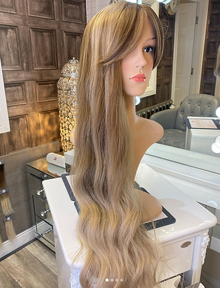 Golden Blonde Long Wavy Wig