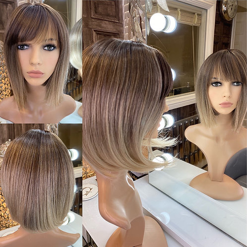Caramel Ombré Bobbed Fibre Wig