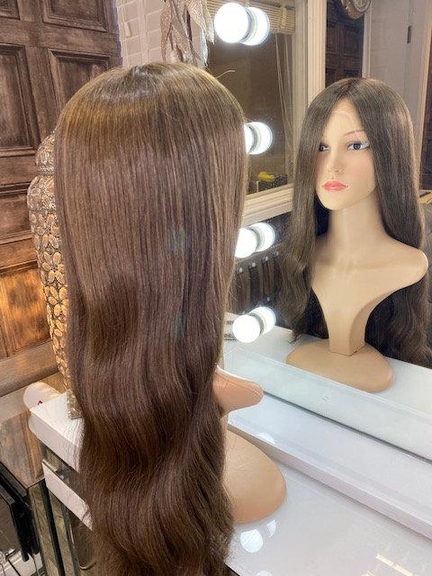 Soft brown 100% Russian Human Hair Wig