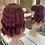 Thumbnail: Deep Cherry Red Beach Wave Fibre Wig