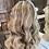 Thumbnail: Blonde Mixed Caramel and Honey Browns Wavy Human Hair Wig