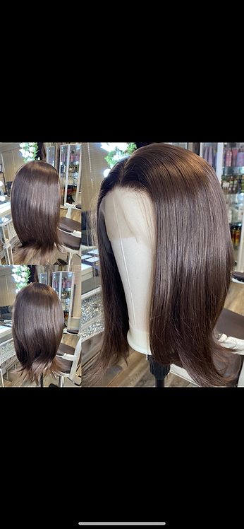 Lace Front Brunette Synthetic Wig