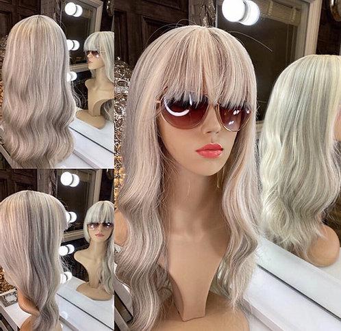 Soft ash blonde - Fibre Wig