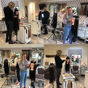 Busy day training @godivahairextensions