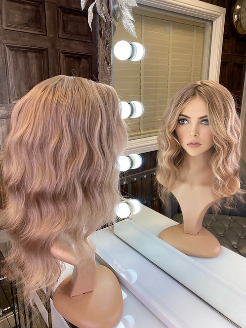 Ash Blonde Curly Fibre Wig