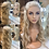 Thumbnail: Silver Braided Wavy Fibre Wig