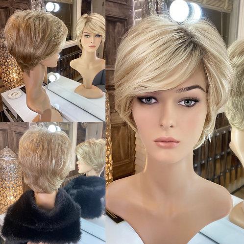 Soft Golden Blonde Pixie Fibre Wig