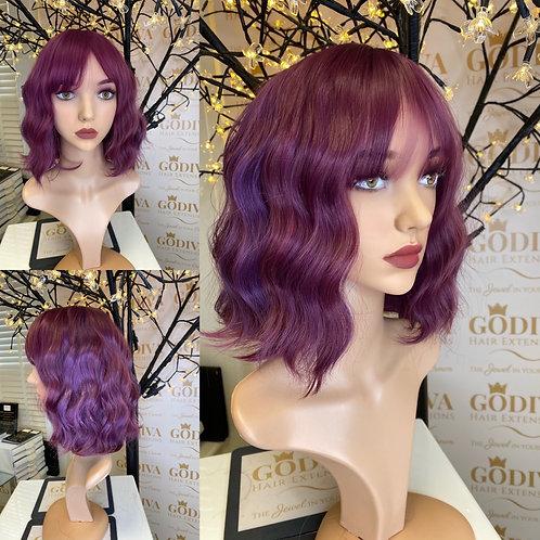 Fuchsia Violet Fibre Wig