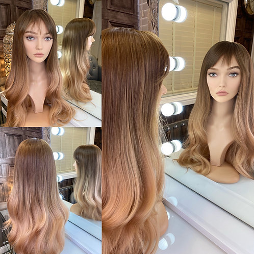 Caramel Honey Blonde Fibre Wig