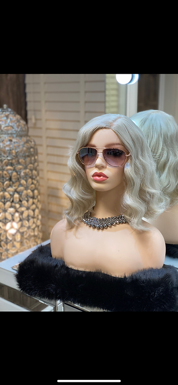 Ash Blonde Kanekalon Synthetic Wig