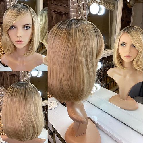 Golden Blonde Bobbed Fibre Wig