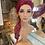 Thumbnail: Blush Pink Braided Wavy Fibre Wig