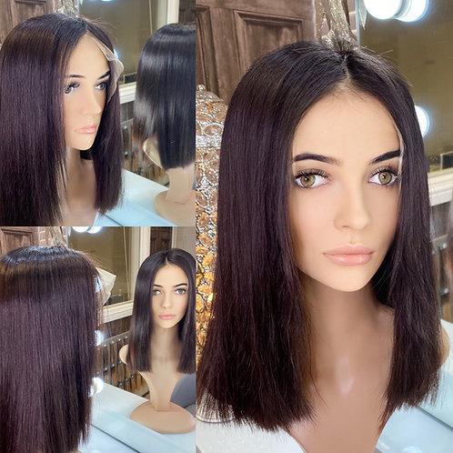 Dark Purple 100% Human Hair Wig