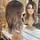 Thumbnail: Caramel and Ash Highlighted Wavy Fibre Hair Wig