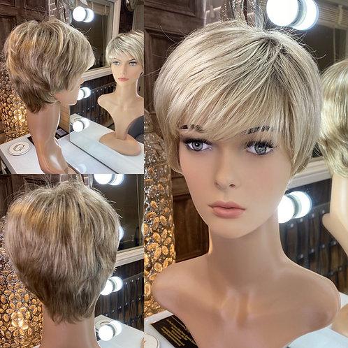 Ash and Honey Golden Blonde Pixie Fibre Wig