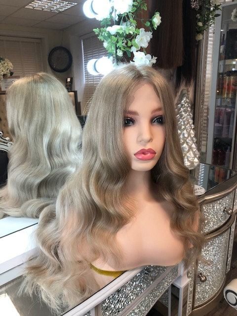 Lace frontal handmade wig - Soft golden ash blonde