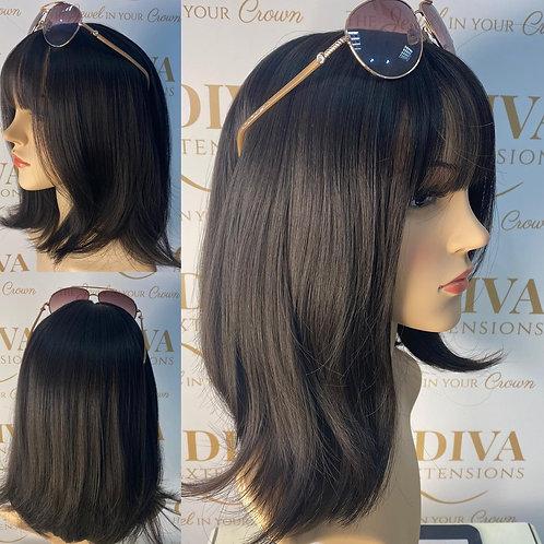 Soft Chocolate Brown Fibre Wig