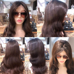 Chocolate brown 18 inch wig for sale. 🧵