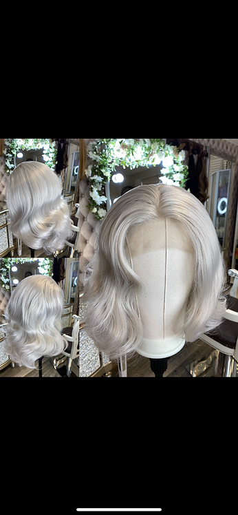 Lace Front Ash/Grey Synthetic Fibre Wig