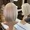 Thumbnail: Silver Ash Blonde Bobbed Fibre Wig