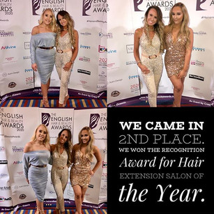 We came 2nd in the Hair Extension Salon