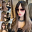 Thumbnail: Mixed Brown with Dark Roots Synthetic Wig