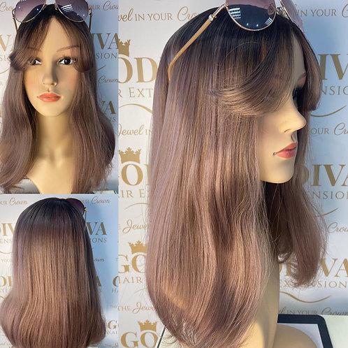 Rose Gold Fibre Wig