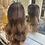 Thumbnail: Deep Brown Wavy Fibre Hair Wig