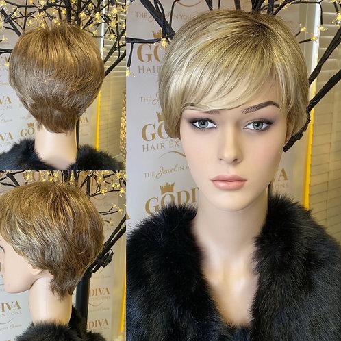 Honey Golden Blonde Pixie Fibre Wig