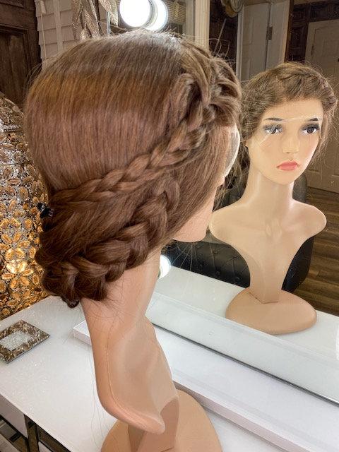 Warm soft brown 100% Russian Human Hair Wig