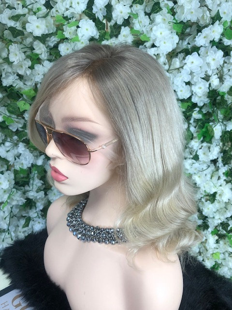 360 Lace handmade wig - Soft golden ash blonde