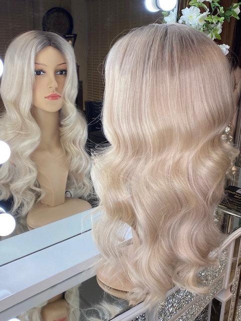 Ash Blonde 100% Russian Human Hair Wig