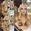 Thumbnail: Golden Blonde Braided Wavy Fibre Wig