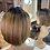 Thumbnail: Mousey Brown Half Chop Bobbed Fibre Wig