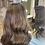 Thumbnail: Chestnut Brown Wavy Human Hair Wig