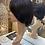 Thumbnail: Deep chocolate brown pixie cut fibre wig