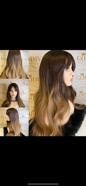 Two Tone Brown Synthetic Wig