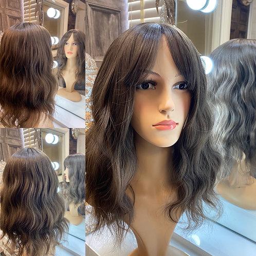 Soft Brown Wavy Fibre Wig