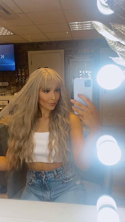 Natural Ash Blonde Wavy Fibre Wig
