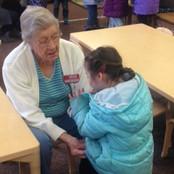 Grandma Virginia helping get ready for r