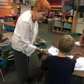 Grandma Luella enjoys serving in her kin